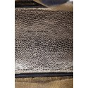 Torebka damska, skóra naturalna typu groszek, czarny - Franco Morenzo