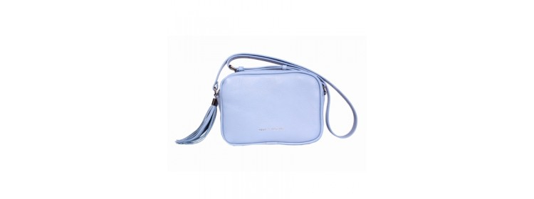 CAVA skórzana torebka damska, błękitna - Franco Morenzo