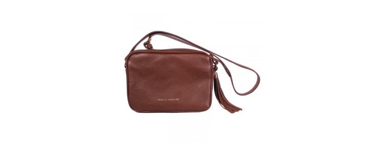CAVA skórzana torebka damska, brązowa - Franco Morenzo