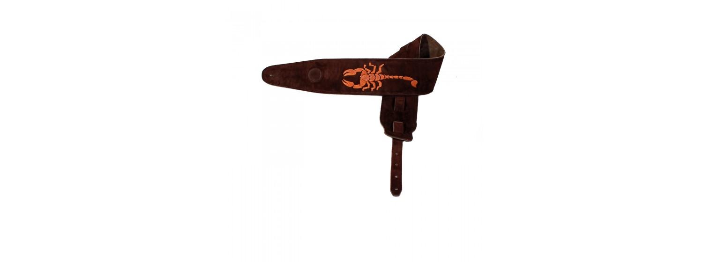 Pas do gitary skórzany  Embroidery E1004/135/No5/E
