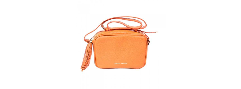 CAVA skórzana torebka damska, pomarańcz - Franco Morenzo